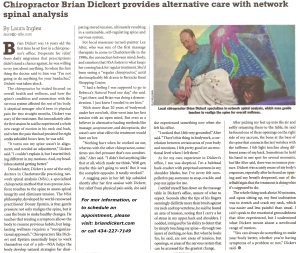 C-Ville Article - A Gentle Touch - Brian Dickert